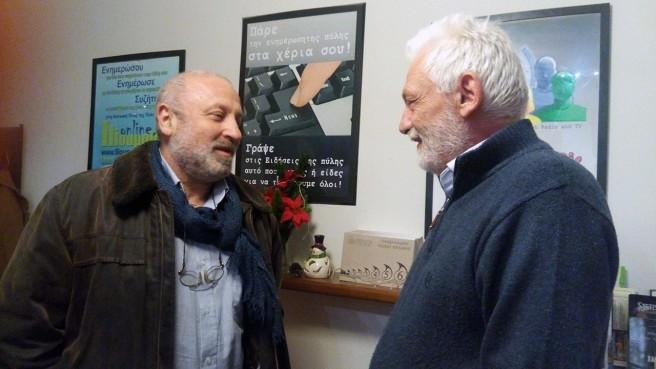 Ο σκηνοθέτης Γρηγόρης Καραντινάκης με το διαχειριστή του IlioupolisOnline Γρηγόρη Σαϊτά